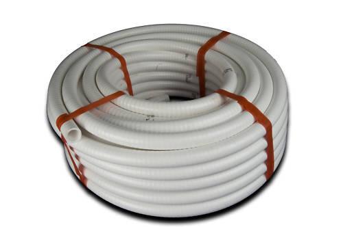 "Sanitation Toilet Waste Hose 19mm 34///"" White Plastic Odour Resistant Pipe TH19"
