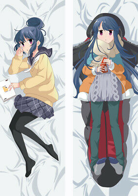 Anime Yuru Camp Pillow Case Cover Hugging Body 20x60 inches