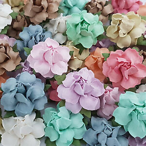 50 Mulberry Paper Flowers Wedding Centerpiece Scrapbook Card Home ...