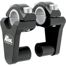 "ROX SPEED FX Pivoting Risers 2 Inch Rise 7/8"" or 1 1/8"" Bar Handlebar Black"