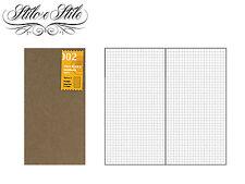 Midori Grid Notebook | Refill Midori 002 | Traveler's Notebook Regular Size