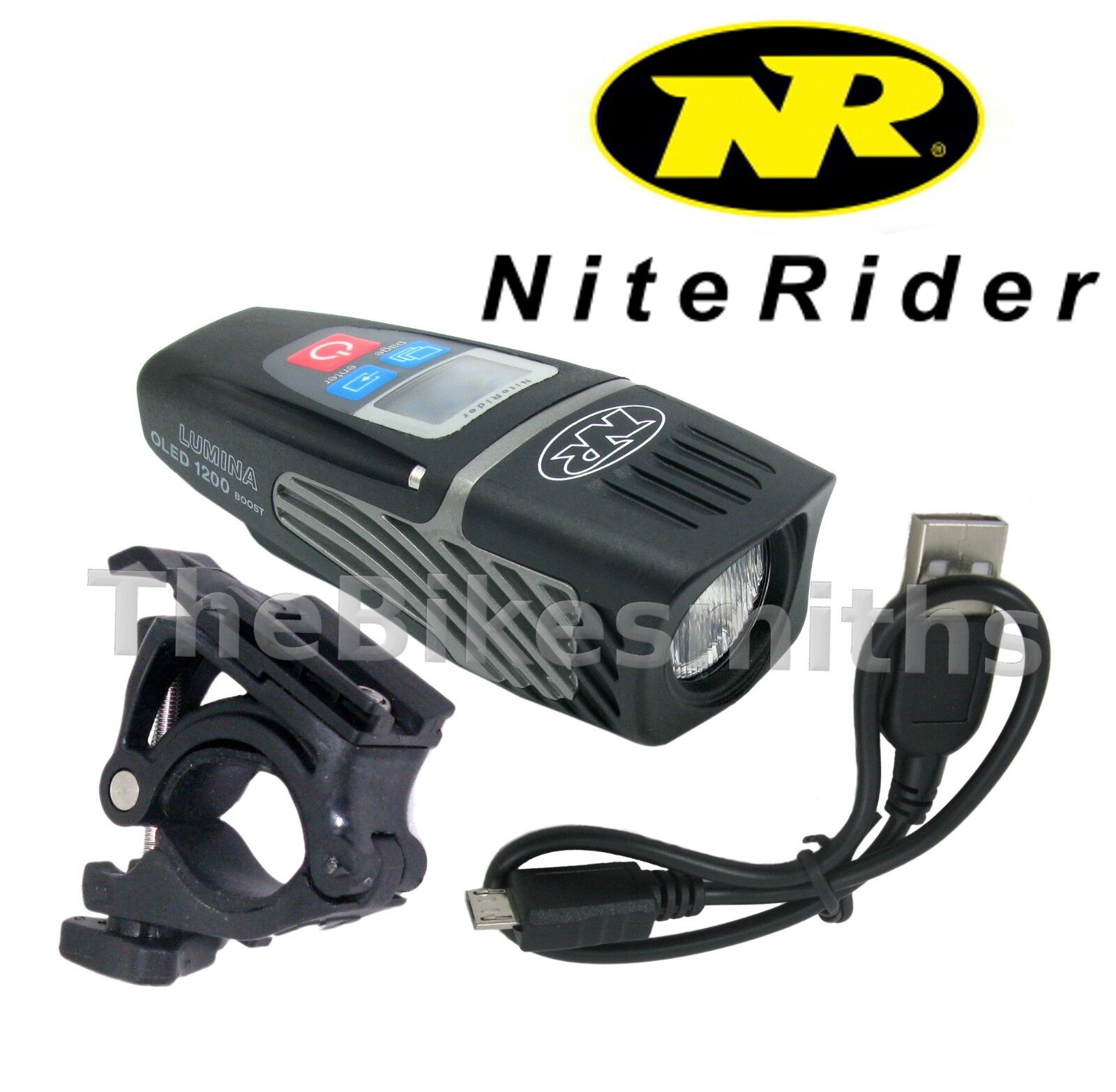 Niterider Lumina OLED 1200 Boost Lumens Display Screen Boost Bike Head Light USB