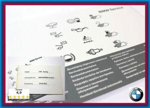 Orig-Neu-BMW-Serviceheft-Aufkleber-F-E-1er-3er-5er-6er-7er-X1-X3-X5-X6-E72-Z4