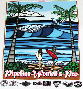b396667146 Details about New Heather Brown Art Womens Triple Crown Surfing Contest  Hawaii NWT Tee Shirt