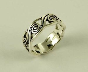 Celtic Ring Sterling Silver Twist Thumb Finger dSrwJk