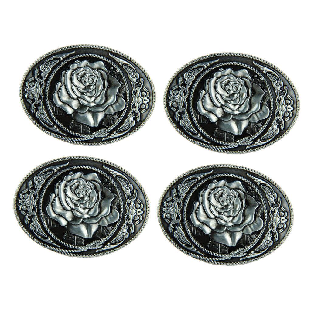 4x Vintage Rose Blume Muster Hippie Western