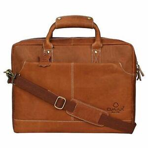 Omax Leather Shoulder Sling Laptop Messenger Bag For Unisex