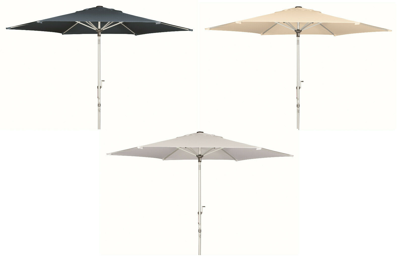 Doppler sombrilla de aluminio Pro 305 cm alrojoedor del jardín paraguas knickbar resistente a la intemperie paraguas
