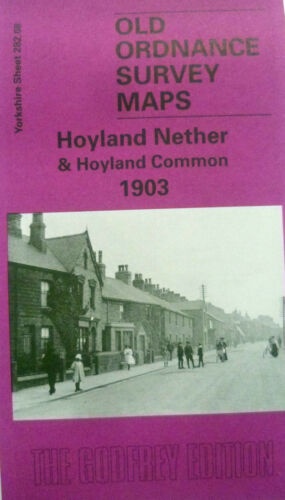 Old Ordnance Survey Map Hoyland Nether /& Common Yorkshire 1903 282.08  New