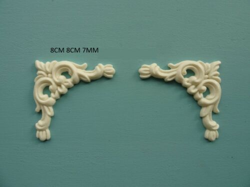 Decorative large ornate corner scrolls x 2 resin furniture mouldings CSL
