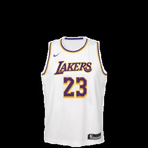 quality design 40880 c80c1 Details about Nike NBA Lakers Swingman Jersey Lebron Kids White Basketball  2019 - EZ2B7BZ1P