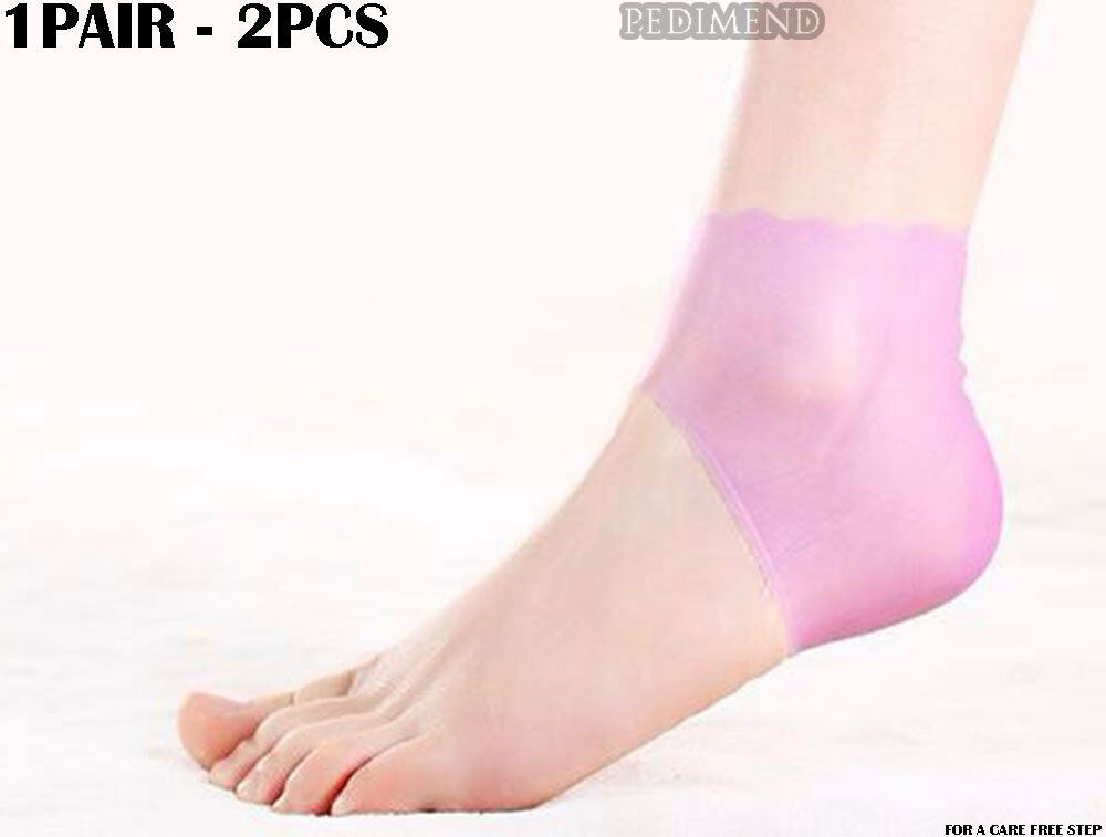 Anti Cracked Therapy Injury Heel Socks Wrap Heel Pads Silicone Foot Protector