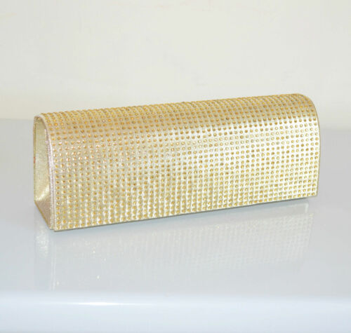 POCHETTE ARGENTO borsello donna strass borsa brillantini CERIMONIA clutch bag 94