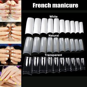 500PCS Natural Half Nail Art Acrylic Tips Artificial UV