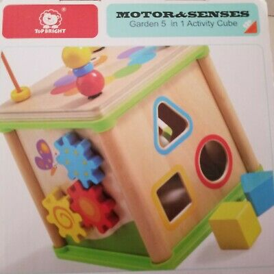 TOP BRIGHT Wooden Activity Cube 1 Year Old Shape Shorter ...