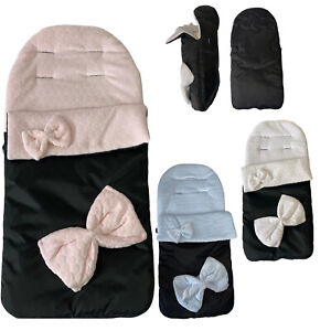Baby Toddler Universal Pink Deluxe Fleecy Lined Winter Footmuff Cosy toes