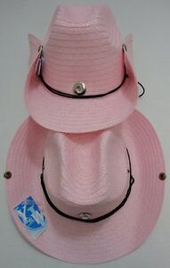 d162fbc936d9c 60 PINK Straw Cowboy Hats Cowgirl Womens Western Hat w  Snaps BULK ...