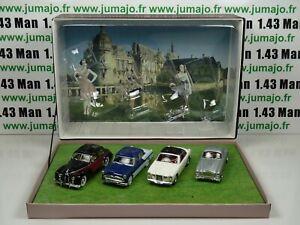 COFFRET-4-voitures-Concours-d-039-elegance-1-43-atlas-NOREV-Lago-anjou-facel