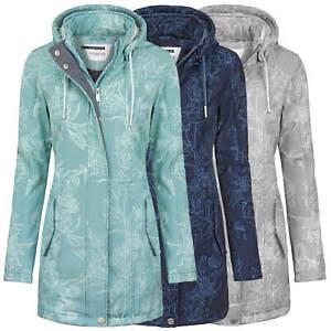 neue hohe Qualität riesiges Inventar neue Fotos Details zu ODYSSEE Damen Softshell Mantel Übergangs Jacke geblümt Parka  Kapuze Outdoor