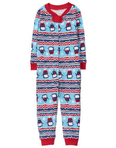 NWT Gymboree Penguin Fair Isle Christmas 1PC Gymmies Pajamas Baby Toddler Boy