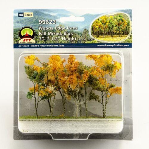 "JTT Scenery Products Fall Mixed Woods Edge Trees HO-Scale 3"" 3.5/"" 9//pk 95623"