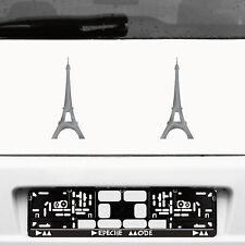 2 Stück 20cm silber Aufkleber Tattoo Auto Deko Folie Paris Eiffelturm Eifelturm