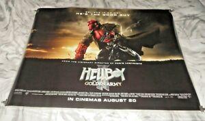 Hellboy II The Golden Army Original UK Quad Movie Cinema Poster 2008 Ron Perlman