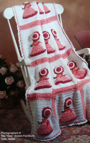 Crochet Pattern Only ~ Victorian Ladies Afghan ~ Similar to Sunbonnet Sue