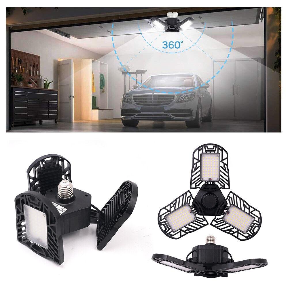 60W Garage LED Licht 6000LM 6500K E27 Bewegungsmelder Innen Deckenleuchte