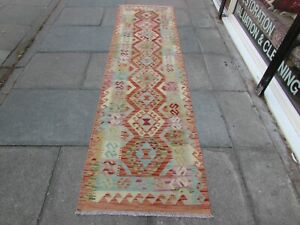 Kilim-Old-Traditional-Hand-Made-Afghan-Oriental-Red-Long-Kilim-Runner-288x79cm