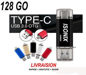 Clé USB C 128 / 64 / 32 Go Gb Type C OTG USB Flash Drive pour Android/PC