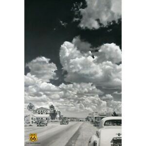 ROUTE-66-POSTER-10-SECONDS-AFTER-CARS-GAS-STATION-91-x-61-cm-36-x-24-034
