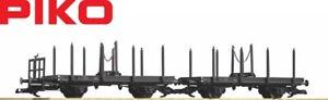 Piko-G-37780-Drehschemelwagen-Doppel-Einheit-der-DR-NEU-OVP