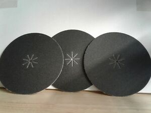 """10 Pack, 60 Grit 16/"""" x 2/"""" Silicon Carbide Slotted Edger Floor Sanding Discs"""