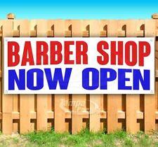 Barber Shop Now Open Advertising Vinyl Banner Flag Sign Many Sizes