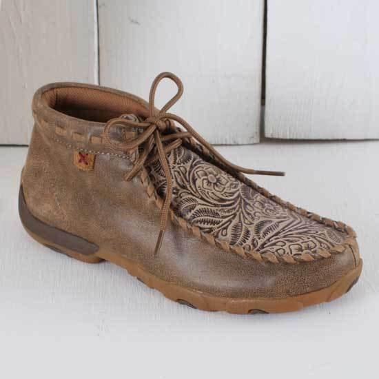Gentleman/Lady Twisted X Light Brown Tooled Moc Consumer first Elegant style Very practical