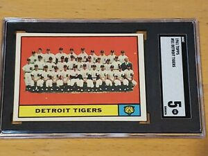 1961 Topps #51 Detroit Tigers SGC 5 Newly Graded