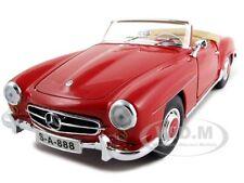1955 MERCEDES 190 SL CABRIOLET RED 1/18 DIECAST CAR MODEL BY MAISTO 31824
