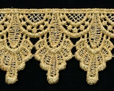 Venise Lace 4+1//4 inch wide white color 34 inch cut