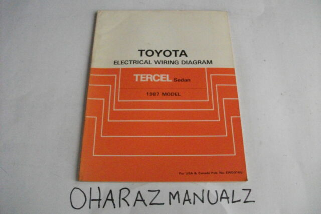 1987 Toyota Tercel Sedan Electrical Wiring Diagram Manual Oem