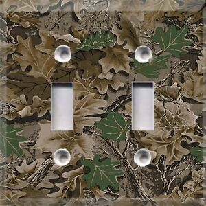 real tree camouflage camo light switch plate cover camouflage living room furniture hollywood thing