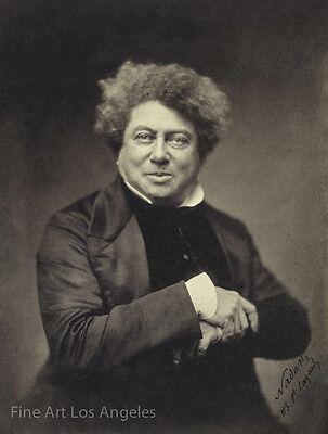 "Felix Nadar Photo, author Alexander Dumas, 1855, ""Three Musketeers"""