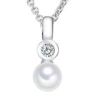 Valero-Pearls-Catena-con-Ciondolo-Argento-Sterling-925-Zirconia-perle-acqua-dolce