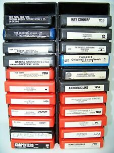 Lot Of 22 Vintage 8Track Tapes Various Artists Not Tested With 2 Carriers
