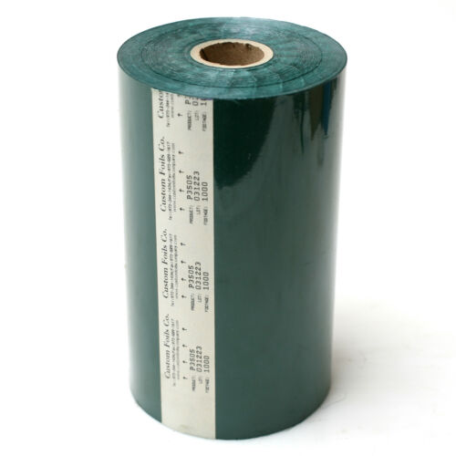 """Custom Foils 6/"""" Wide Hot Stamp Foil 1000/' Dark Green Pantone 350c P3505"""
