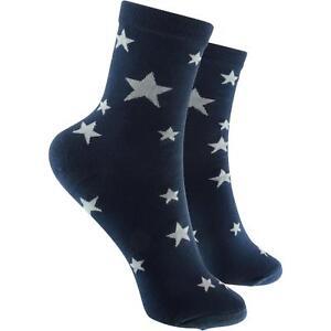 Ausdrucksvoll Cosey Dünne Socken Sterne Schwarz (33-40) 2 Paar Baumwolle Atmungsaktiv Weich Angenehm Zu Schmecken