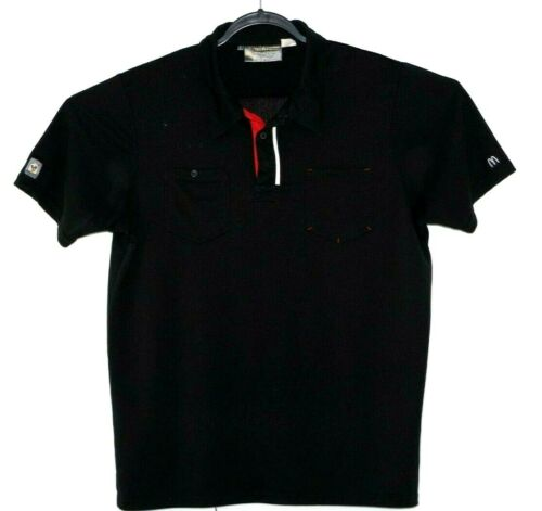 McDonalds Uniform Employee Black Short Sleeve  Work Polo Shirt Size L