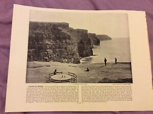 Antique-Book-Print-Cliffs-of-Moher-OR-Gourock-UK-c-1895