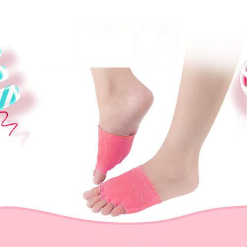 Women Socks Exercise Ballet Dance Non Slip Toe Half Grip Heel Five Finger SocksG