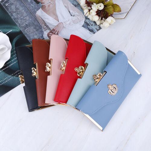 Women Lady Clutch Leather Wallet Long Card Holder Phone Bag Case Purse HandbagUK